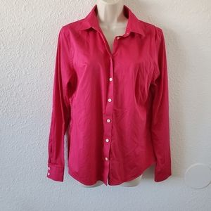 Banana Republic Hot Pink Non-Iron Fitted Shirt